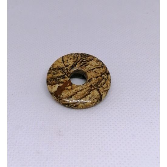 Ainavu jašmas apaļveida kulons 30 mm