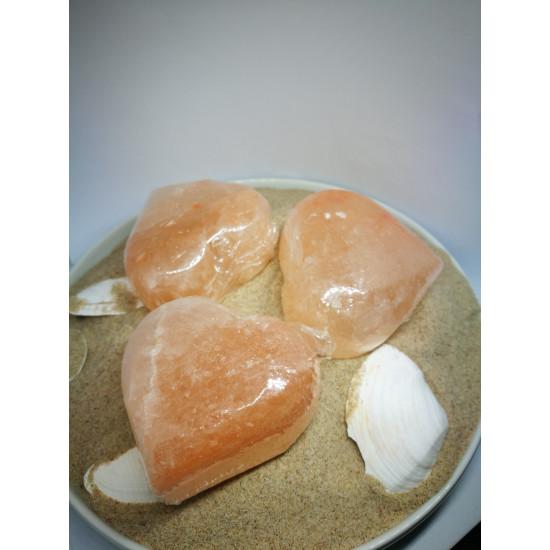 Sāls ziepes sirds forma
